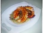 Photo Pulpo en aceite de brasas con puré de patata y boniato - NAS DE SURO